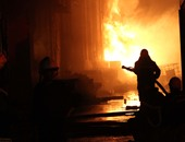 اندلاع حريق هائل بأحد أبراج المحمول بالبحيرة