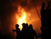 عناصر الإخوان يشعلون النيران فى نقطة شرطة بالمنيب