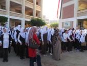 بالصور.. انتظام الطلاب بمدارس كفر الشيخ فى أول يوم دراسى