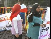 بالصور ..مسيرة حاشدة دعما للرئيس أمام ديوان عام محافظة الغربية