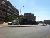 سيارات مكافحة الشغب تمشط محيط جامعة عين شمس بالخليفة المأمون