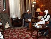 الإمام الأكبر يلتقى الصادق المهدى ويشيد بفكرة الحوار بين السودانيين