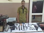 ضبط خراط يتخذ من مسكنه ورشة لتصنيع الأسلحة النارية والاتجار فيها بالمطرية