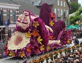 بالصور.. هولندا تكرم بيتهوفن بتماثيل مذهلة فى مهرجان للزهور