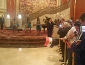 بالصور.. السيسى يصل مقر إقامته بالصين.. وفرقة موسيقة تستقبله بالعزف