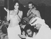 فيفى عبده تنشر صور قديمة مع عمر الشريف وعادل إمام وراغب علامة وطلال مداح