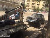 رفع 13 سيارة ودراجة بخارية متروكة فى حملات مرورية بالجيزة