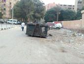صحافة المواطن.. صندوق قمامة بمنتصف شارع بحدائق حلوان