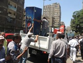 شرطة المرافق بالجيزة تشن حملة مكبرة لإزالة الإشغالات بمدينة 6 أكتوبر
