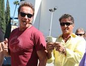 سلفستر ستالون يعزم أرنولد شوارزنيجر على الغداء فى لوس أنجلوس