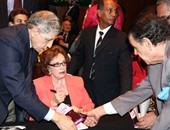 بدء احتفالية توقع كتب زعيم الحرب والسلام عمرها 60 عاماً بحضور جيهان السادات