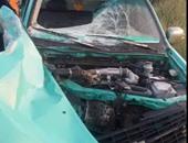 مصرع 3 وإصابة 9 فى تصادم سيارتين ميكروباص فى المنيا