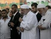 بالصور.. إسماعيل هنية يلقى خطبة عيد الأضحى فى أحد ساحات خان يونس جنوب غزة