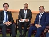 انتهاء جلسة المباحثات بين الرئيس السيسى ورئيس وزراء هولندا