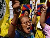 بالصور..مواطنو التبت يتظاهرون فى نيودلهى لمطالبة الصين بالإفراج عن السياسيين