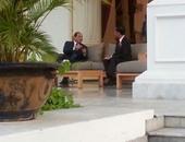 السيسى يغادر مقر القصر الرئاسى بإندونيسيا متوجها إلى مقر إقامته