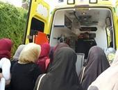 وصول أسر مصابى حادث الواحات لمستشفى دار الفؤاد للاطمئنان على ذويهم