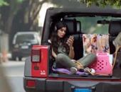 """بالفيديو..قرد يهاجم غادة عادل خلال تصوير فيلمها الجديد """"أهواك"""""""