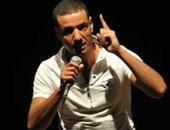 """هشام الجخ يتألق فى طنطا بقصيدة 5 الصبح ويرفض إلقاء """"أنا إخوان"""""""
