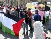 مئات الفلسطينيين فى نابلس ينددون بالهجمة الشرسة التى يتعرض لها الأقصى
