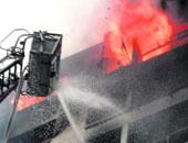 إصابة 4 أشخاص بينهم رقيب شرطة خلال إطفاء حريق بمصنع مسلى  فى المنيا