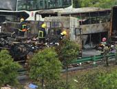 مصرع 20 شخصا وإصابة 8 آخرين فى حريق نشب داخل حافلة ببيرو