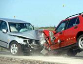 إصابة شخصين فى حادث تصادم سيارتين أمام كمين العجيزى بالمنوفية