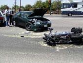 إصابة 3 أشخاص فى حادث انقلاب دراجة بخارية على الطريق الزراعى قنا