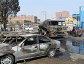 اندلاع حريق بسيارة نقل محملة بالوقود بطريق الأوتوستراد والإطفاء تحاول السيطرة
