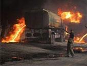 مصرع شخصان إثر اشتعال ناقلة للنفط فى مدينة تالاكانج الباكستانية