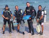 قوات الإنقاذ النهرى تنتشل جثمان طالب من شاطئ الهانوفيل بالإسكندرية