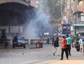 الأمن يفرق مسيرة للإخوان حاولت قطع الطريق بميدان المسلة بالفيوم