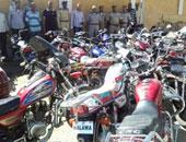 ضبط 19 دراجة بخارية و4 مركبات توك توك فى حملة بمركز سمسطا ببنى سويف