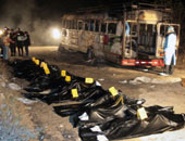 مقتل وإصابة 23 شخصا إثر انفجار لغم أرضى فى حافلة ركاب شرق أوكرانيا