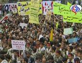 تداول فيديو لتجدد المظاهرات فى إيران وتمزيق لافتة للمرشد