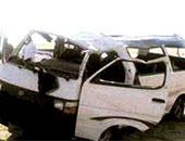"""إصابة 14 شخصا فى انقلاب ميكروباص بطريق """"مصر- إسماعيلية الصحراوى"""""""
