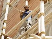 مصرع عاملين سقطا من الطابق الخامس بعقار تحت الإنشاء فى أكتوبر