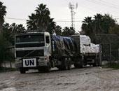 دخول أول قافلة إغاثة إلى مدينة تعز باليمن بعد كسر الحصار جزئيا