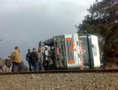 تصادم سيارتين نقل على طريق الدائرى بالمريوطية دون وقوع إصابات