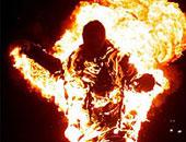 """عاطل """"مخمور"""" يشعل النيران فى نفسه بالعجوزة"""