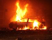 """بسبب عبارة """"الإخوان ملهمش أمان"""".. أمين شرطة يتهم """"الإرهابية"""" بحرق سيارته"""