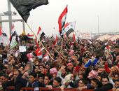مظاهرات أمام مبنى السفارة التركية ببغداد احتجاجا على أزمة مياه سد أليسو