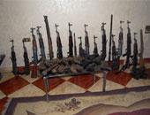 ضبط 30 قطعة سلاح نارى بدون ترخيص بحوزة متهمين بالمنيا