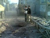 هبوط أرضى يتسبب فى كسر ماسورة صرف صحى شرق الإسكندرية
