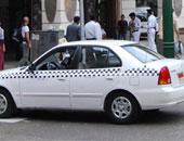 تظاهر أصحاب سيارات التاكسى احتجاجا على عمل سيارات الملاكى أجرة بطنطا