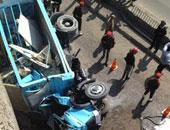 إصابة شخصين فى حادث انقلاب سيارة ملاكى بشارع التسعين الجنوبى بالتجمع