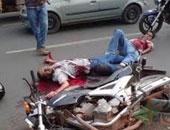 دفن طفلين انقلبت بهما دراجة بخارية كانا يستقلانها فى حفل زفاف شقيقهما بأطفيح