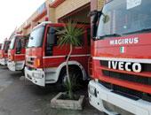 5 سيارات إطفاء تسيطر على حريق بورشة أحذية فى باب الشعرية دون إصابات