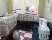 ضبط 1321 علبة سجائر مجهولة المصدر وغير صالحة للاستخدام بأبوقرقاص