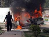اشتعال النيران فى سيارة بالطريق العام بالإسكندرية دون إصابات
